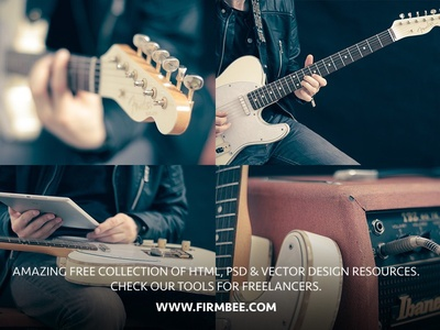 Free music .PNG photos and .PSD mockups