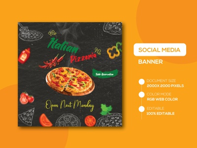 Restaurant - Social Media Banner Templates bannersmall typography bannersnack banners restaurant logo social media banner designer restaurant design social media banner examples flyer design brand identity facebook cover advertising banner ad restaurant app restaurant banner restaurant menu restaurant branding social media design instagram template instagram post