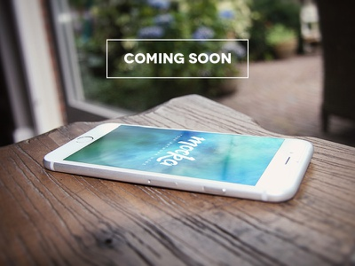 Coming soon! unique iphone apple download high quality mockup