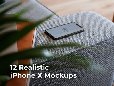 12 Realistic iPhone X Mockups ui smart object serie responsive realistic new mockup mocka x iphonex phone ios photoshop high quality psd easy download design artwork apple