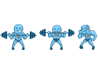 Gym App Character Poses