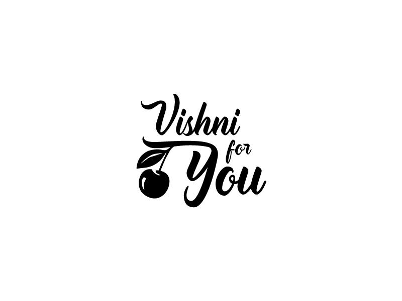Vishni For You clothe vector ai black you for cherry logo
