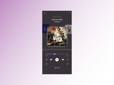 Daily UI 9 - music player dark mode ux dailyuichallenge dailyui