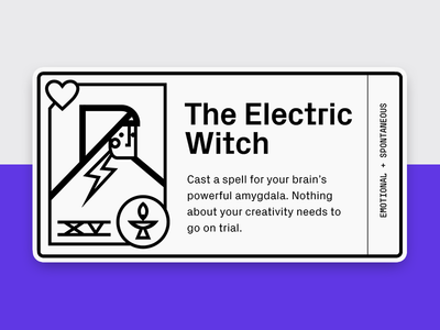 The Electric Witch witch horoscope card tarot icon illustration vector graphic
