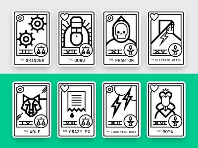 Format Creative Personas — Full Set horoscope tarot card graphic icon illustration vector