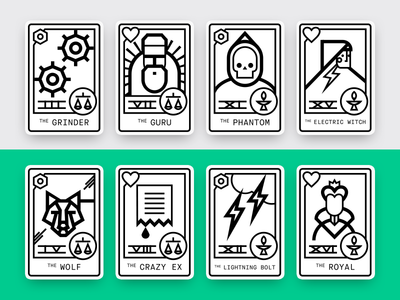 Format Creative Personas — Full Set horoscope tarot card graphic icon illustration vector