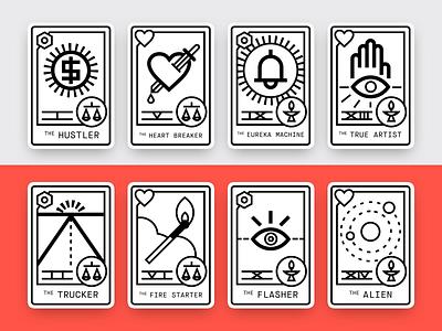 Format Creative Personas — Full Set horoscope tarot card icon graphic illustration vector