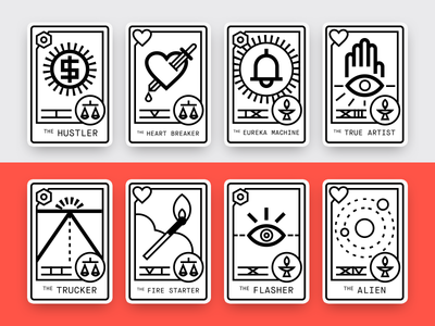 Format Creative Personas — Full Set horoscope tarot card icon graphic illustration vector