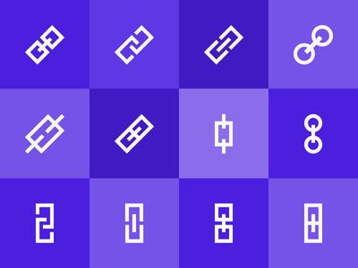 One Icon, 12 Ways flat graphic vector icon link