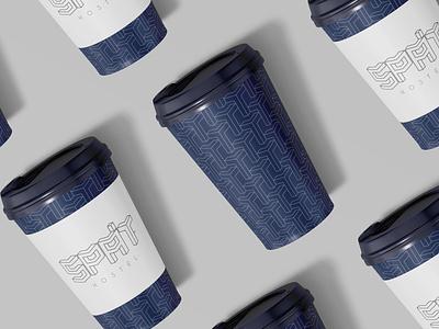 Design coffee cups for hostel logotype minimal coffee cup logo design logo design branding