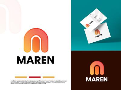 M LETTER MODERN LOGO - LOGO DESIGNER ux vector ui typography illustration icon logo app design branding