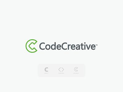 CodeCreative  Logo Design hire logo designer letter mark c  code logo c logo logos and branding identity flat abstract marketing agency ecommerce creative code development modern design gfx logotype mark branding logo design