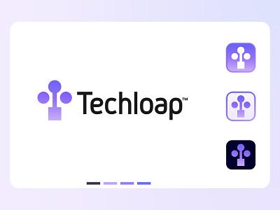 Techloap modern logo design logos and branding creativity tech techloap tech modern logo t e c h logo hire logo designer icon design abstract gradient symbol marketing agency ecommerce modern logo brand agency logo designer branding design designer bangladesh