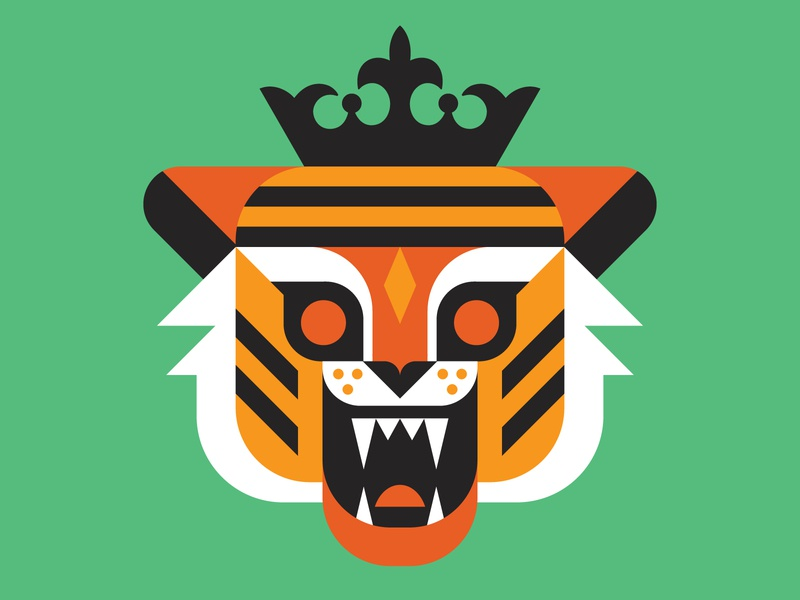 Hey all you cool cats & kittens! trainwreck vector animal illustration netflix tiger king tiger
