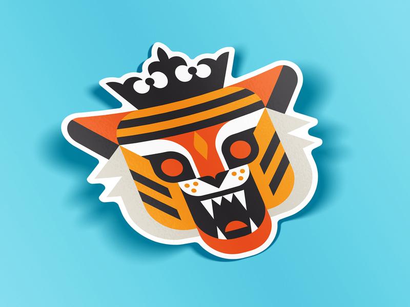 F*ck it. I made stickers. show true crime pop culture netflix crown cat big cat sticker king tiger tiger king illustration