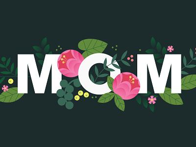 MOM stock holiday design vector illustration