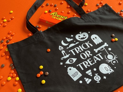 Trick or Treat Tote - Club Kiddo spooky candy ghost pumpkin trick or treat club kiddo product tote bag tote halloween design kids illustration