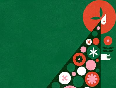 Waltz of the Flowers - Nutcracker Series nutcracker holiday christmas vector vintage illustration