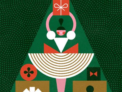 Clara - The Nutcracker Series festive nutcracker ballet pattern fun christmas holiday vintage vector kids illustration