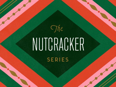 The Nutcracker Series midcenturymodern series nutcracker typography fun pattern holiday christmas kids vintage vector illustration