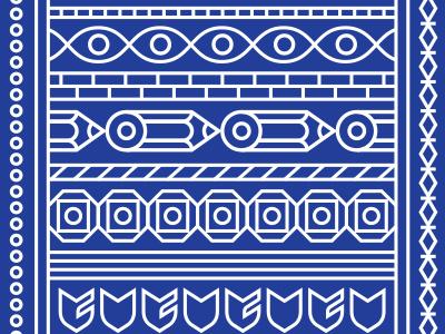 Bandana Blue bandana pattern big cartel illustration