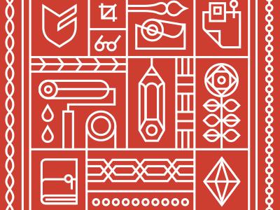 Bandana Red bandana pattern big cartel illustration
