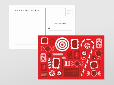 Holiday Postcards holiday postcards shop drinks candy