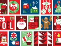 Holiday Mail Stickers - Stamps Detail