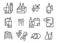 Bare Bottle Icons
