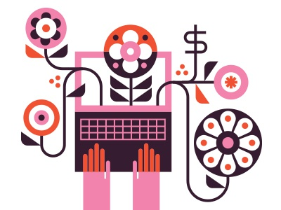 Real Simple - Crowdfunding editorial illustration crowdfunding
