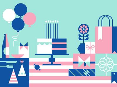 Facebook Events - Birthday facebook events illustration birthday