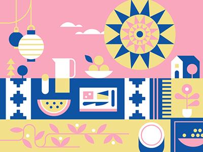 Facebook Events - Picnic facebook events picnic illustration