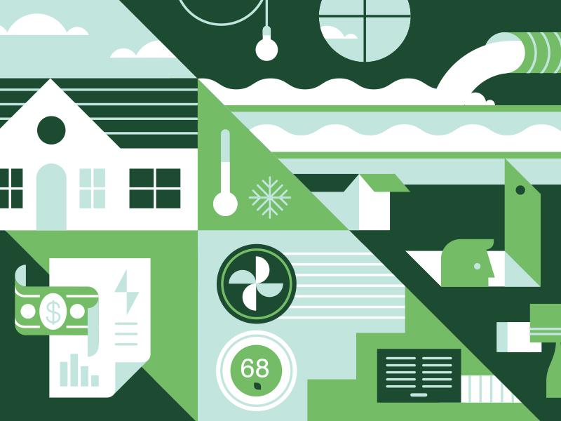 TreeHouse green eco illustration treehouse