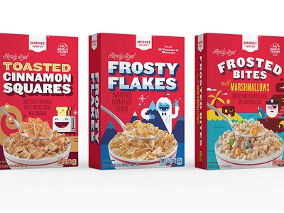 Market Pantry - Cereal breakfast food pirate toaster yeti packaging illustration target market pantry