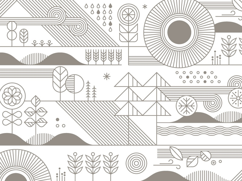 Target Wallpaper pattern illustration nature line art target