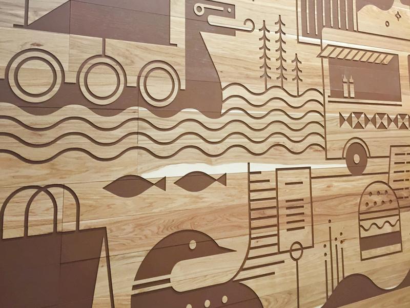 Target Mural line art mural illustration target