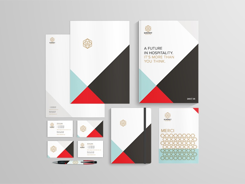 Sommet Education by Eight Hour Day education design stationery logo branding