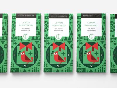 Terroir Chocolate - 2017 Holiday Collaboration christmas holiday cardinal illustration chocolate packaging