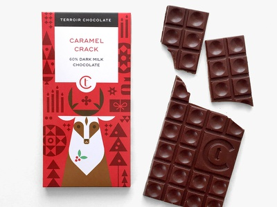 Terroir Chocolate - 2017 Holiday Collaboration gift packaging chocolate illustration deer holiday christmas
