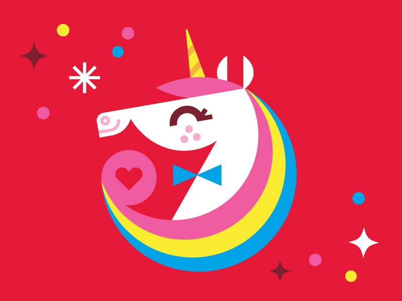 Unicorn Magic packaging ice cream illustration unicorn