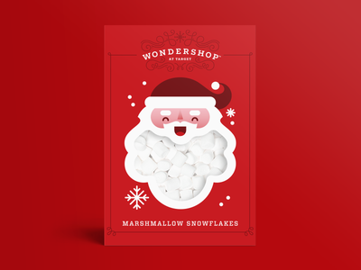 Wondershop Marshmallows snowman santa packaging food christmas holiday illustration target marshmallow