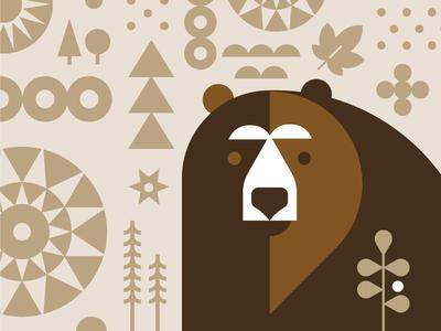 TC Chocolate pattern bear owl chocolate packagaing illustration