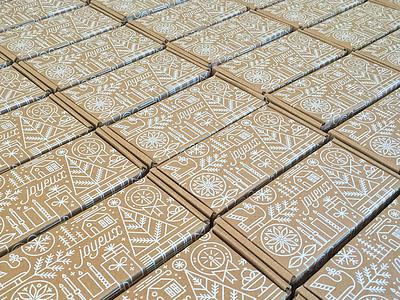 Christmas Goodies line art christmas holidays pattern packaging