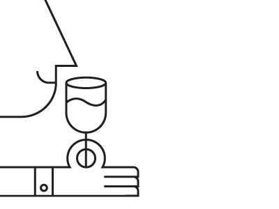 Wine Tasting illustration line icon iconic wine wine making happy person man drink alcohol glass tasting