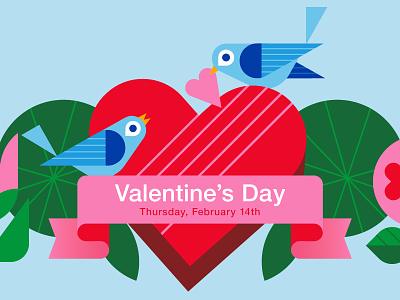 Target Valentine's Day brand illustration signage flowers birds vector target valentine illustration holiday love birds heart valentines day love