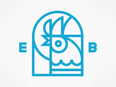 Early Birds line vector logo crest emblem kids art club kiddo chicken early riser tshirt tee illustration