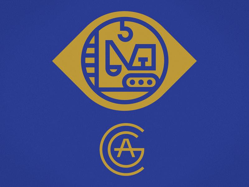 Club Kiddo - Construction Appreciation Guild club kiddo t-shirt tee vector badge crest construction logo branding kids illustration