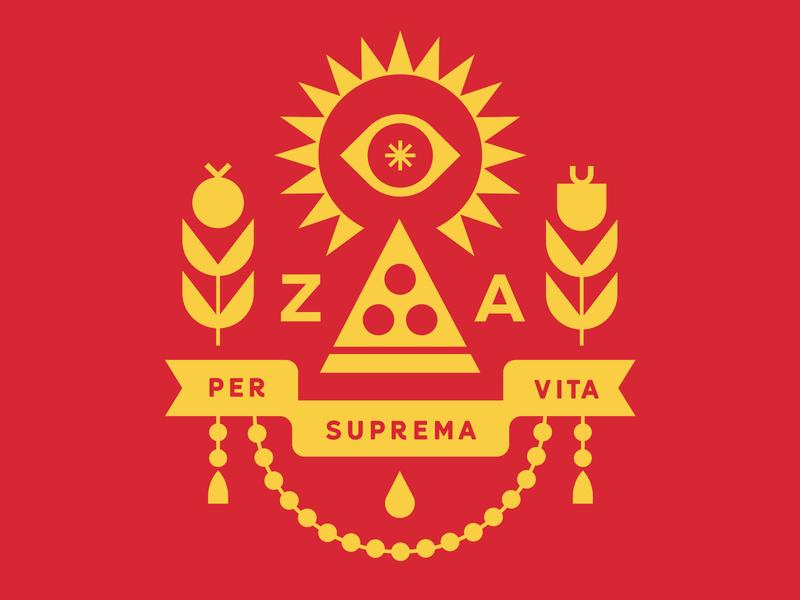 Club Kiddo - The Pizza Party club kiddo club pizzeria pizza logo kids brand t-shirt tee crest emblem pizza logo branding kids illustration