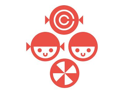 Club Kiddo - Candy Collective sugar crest emblem logo design branding vector kids branding kids illustration candy