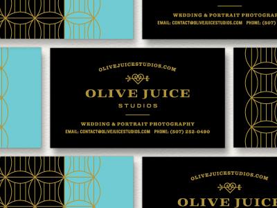 Olive Juice Studios branding design foil pattern business cards stationery identity logo